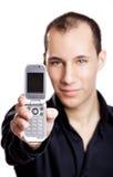 показ мобильного телефона Стоковая Фотография RF