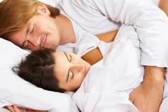 показ пар кровати романский Стоковые Фото