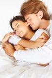 показ пар кровати романский Стоковая Фотография