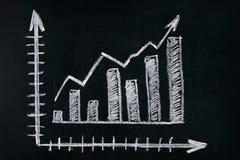 показ подъема профитов диаграммы заработков стоковое фото rf