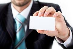 показ пустой карточки Стоковые Изображения
