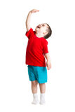 Показ ребенка растет Стоковое фото RF