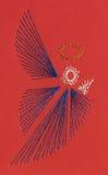 показ рождества карточки ангела стоковые изображения