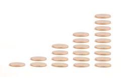 показ роста золота goins диаграммы Стоковые Изображения