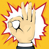 показ руки что все хорошо Стоковое Изображение