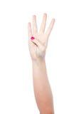 Показ 4 руки стоковое изображение
