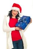 показ santa хелпера gfts рождества красотки Стоковое Изображение