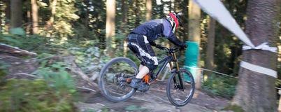 Покатое Mountainbiker стоковые фото