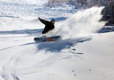 покатый snowboarder Стоковая Фотография RF
