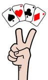 Покер выигрыша Стоковое Изображение