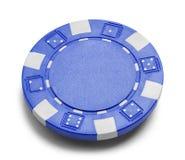 покер голубых фишек Стоковое Изображение RF