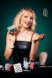 покер девушки Стоковое Изображение RF