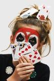 покер девушки Стоковое Изображение