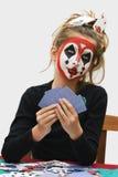 покер девушки Стоковая Фотография