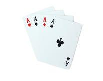 Покер играя карточек туза Стоковая Фотография