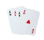 Покер играя карточек туза Стоковое Изображение RF