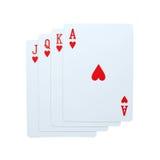 Покер играя карточек стоковая фотография rf