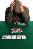 покер игрока despair стоковое изображение