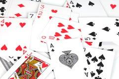 покер игры карточек некоторые Стоковые Фото