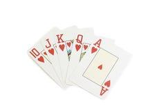 покер казино карточек полный играя королевский Стоковое Изображение RF