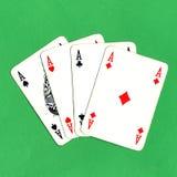 покер карточек тузов Стоковые Фотографии RF