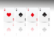покер карточки 4 тузов Стоковое Изображение