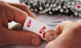 покер короля туза Стоковая Фотография