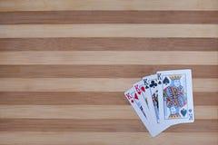 Покер 4 королей Стоковая Фотография