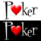 покер логоса Стоковые Фото