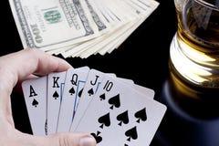 покер ночи Стоковая Фотография