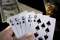 покер ночи Стоковое фото RF
