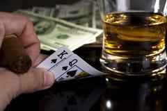 покер ночи Стоковые Фотографии RF