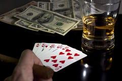 покер ночи Стоковые Изображения RF