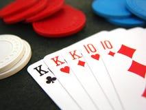 покер обломоков карточек Стоковые Изображения RF