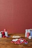 покер обломоков карточек Стоковые Фото