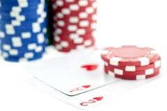 покер обломоков карточек Стоковые Изображения