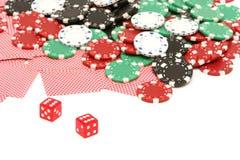 покер обломоков карточек Стоковое Фото