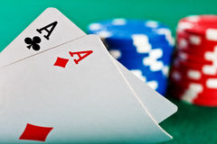 покер обломоков карточек Стоковые Фотографии RF
