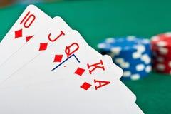 покер обломоков карточек Стоковая Фотография RF