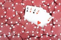 покер обломоков тузов Стоковые Изображения RF