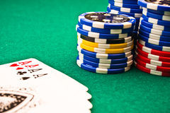 покер обломоков тузов Стоковое Изображение RF