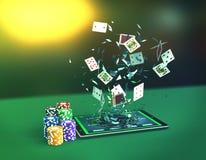 Покер он-лайн Стоковое фото RF