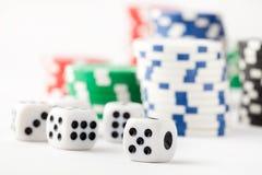 покер плашек обломоков Стоковое Фото