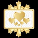 покер сердца знамени иллюстрация вектора