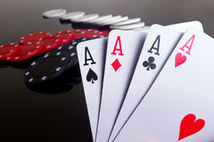 покер тузов 4 Стоковая Фотография RF