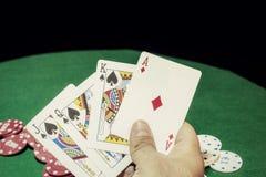Покер чешет королевский приток Стоковое Фото