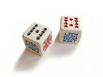 покер 2 плашек стоковые фотографии rf