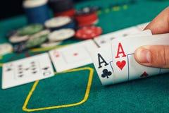 Покер Aces пары Стоковое Изображение