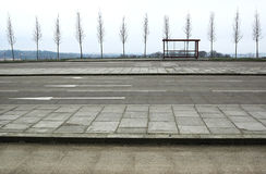 покинутая автобусная остановка Стоковая Фотография RF