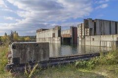 Покинутая атомная электростанция Стоковые Фотографии RF